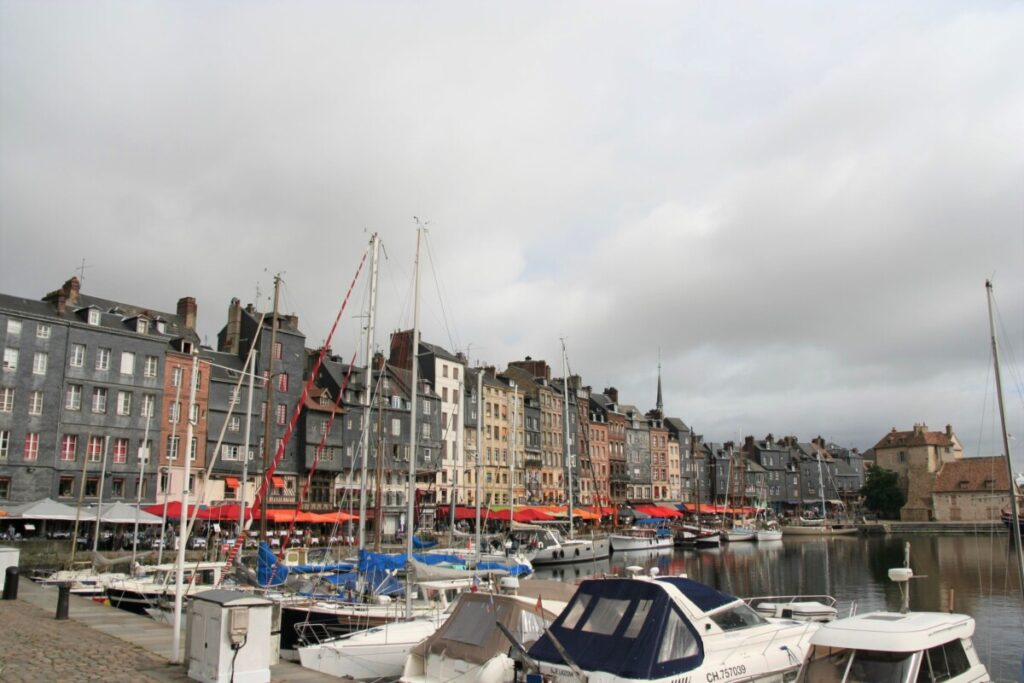 The port in Honfleur in France