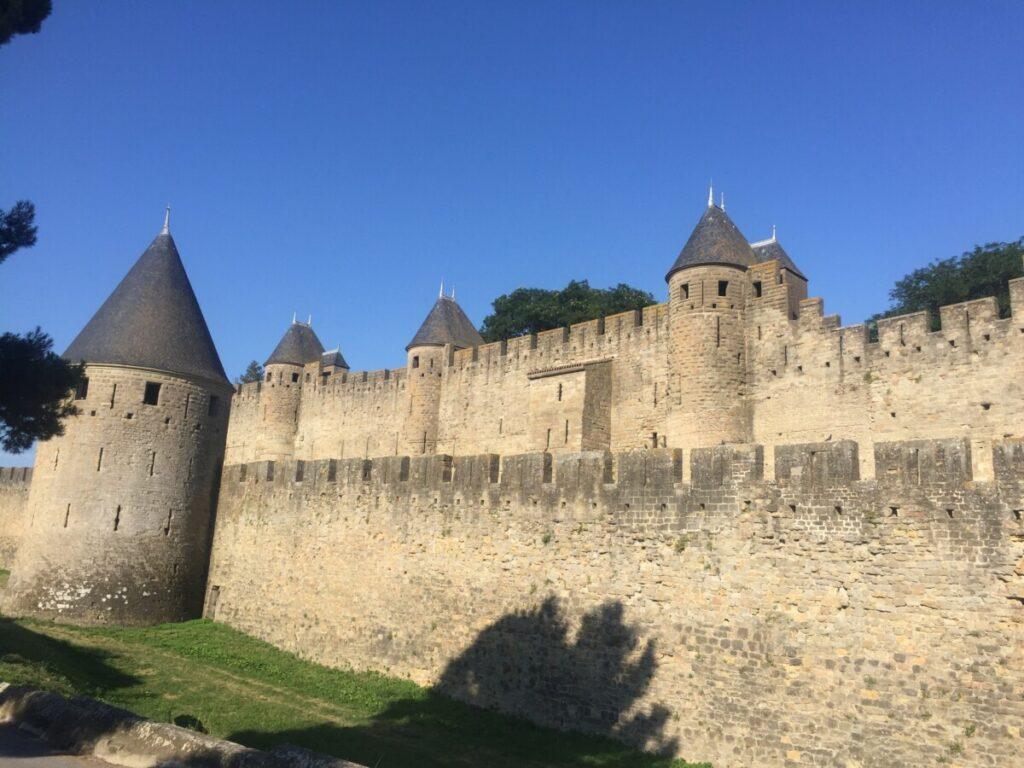 Den indre ringmuren rundt Carcassonne