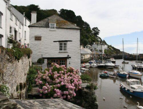Polperro i Cornwall