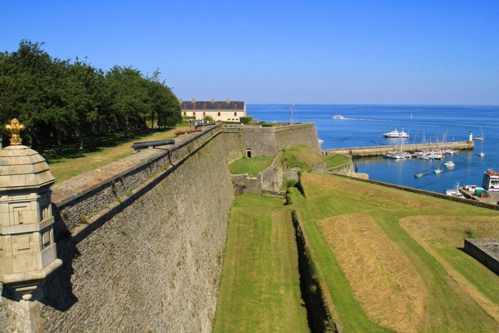 Citadelle Vauban på Belle-Ile utenfor Bretagne-kysten