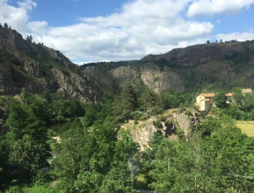 Fra togturen mellom Nimes og Clermont-Ferrand