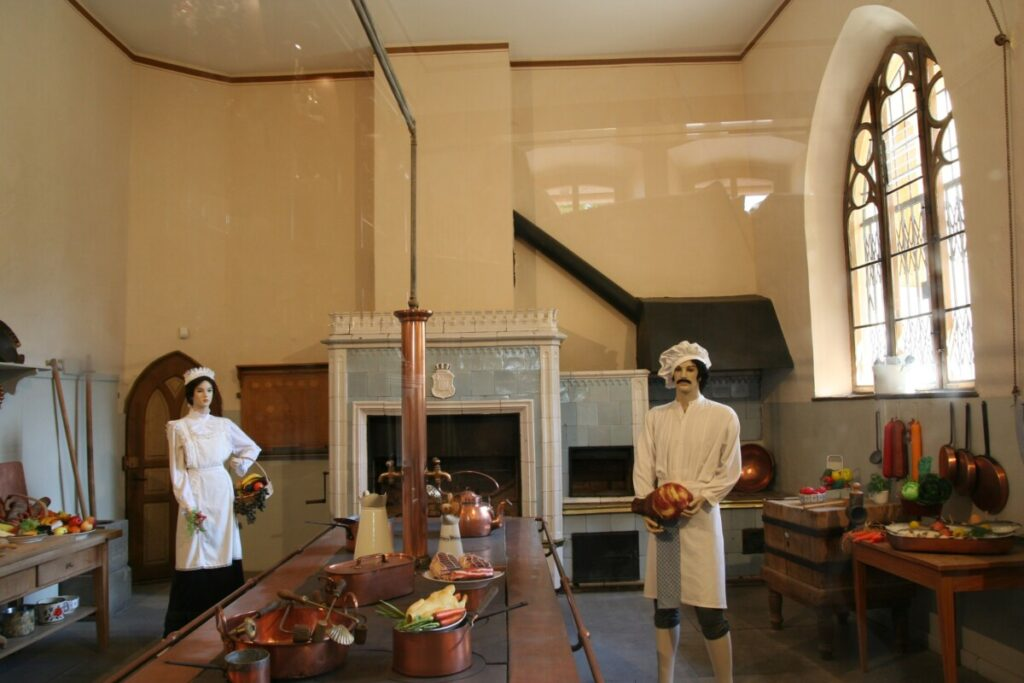 The kitchen at Hochenscwanstein