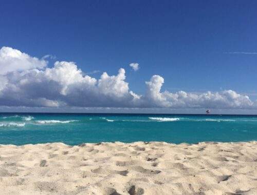 Stranden i Cancun i Mexico