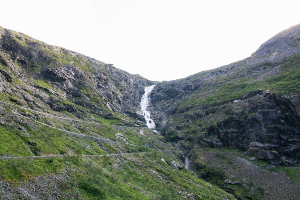 Trollstigen seen from below