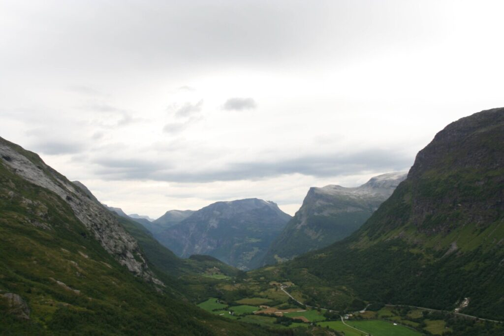 The road from Geiranger