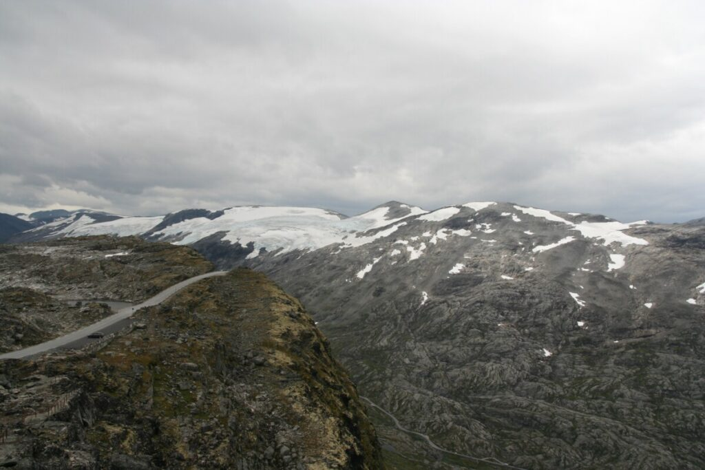 Glaciers view from Dalsnibba