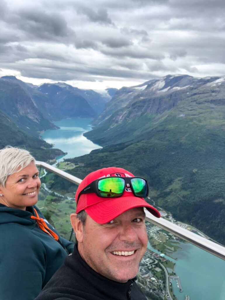 Cousin Chris and myself at Loen Skylift