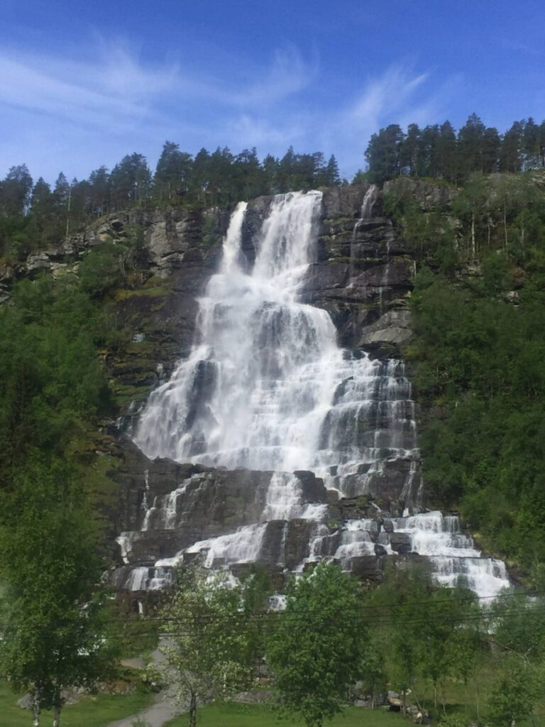 Waterfall on Norway in a nutshell tour