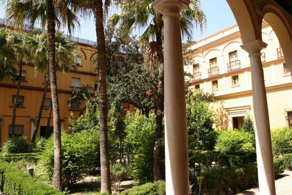 Hagen i Alcazar i Sevilla
