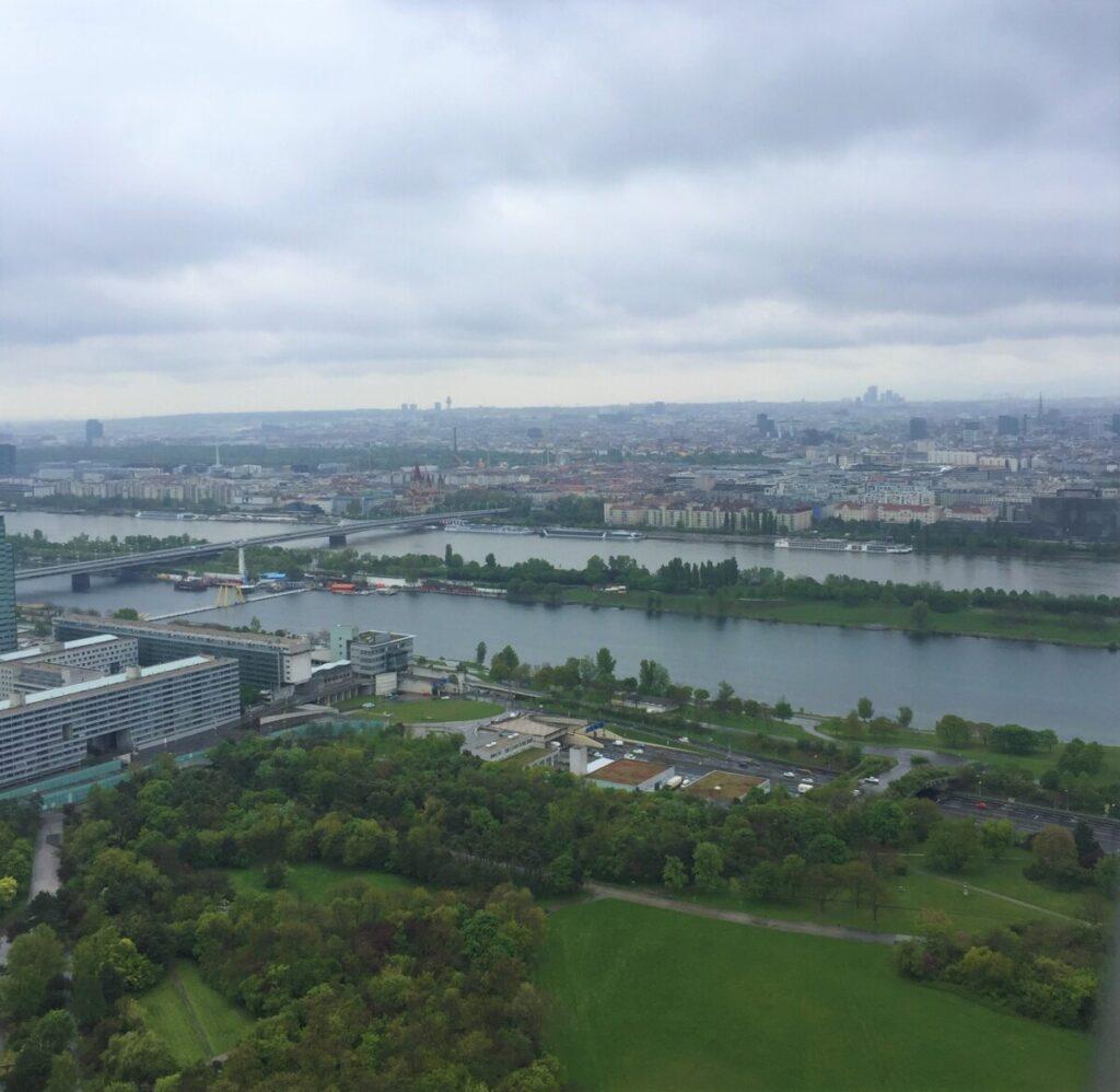 Utsikt fra TV-tårnet i Wien