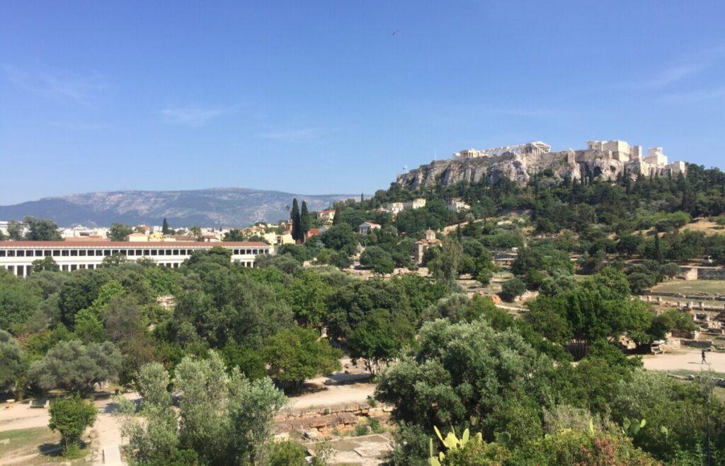 Akropolis sett fra Agora