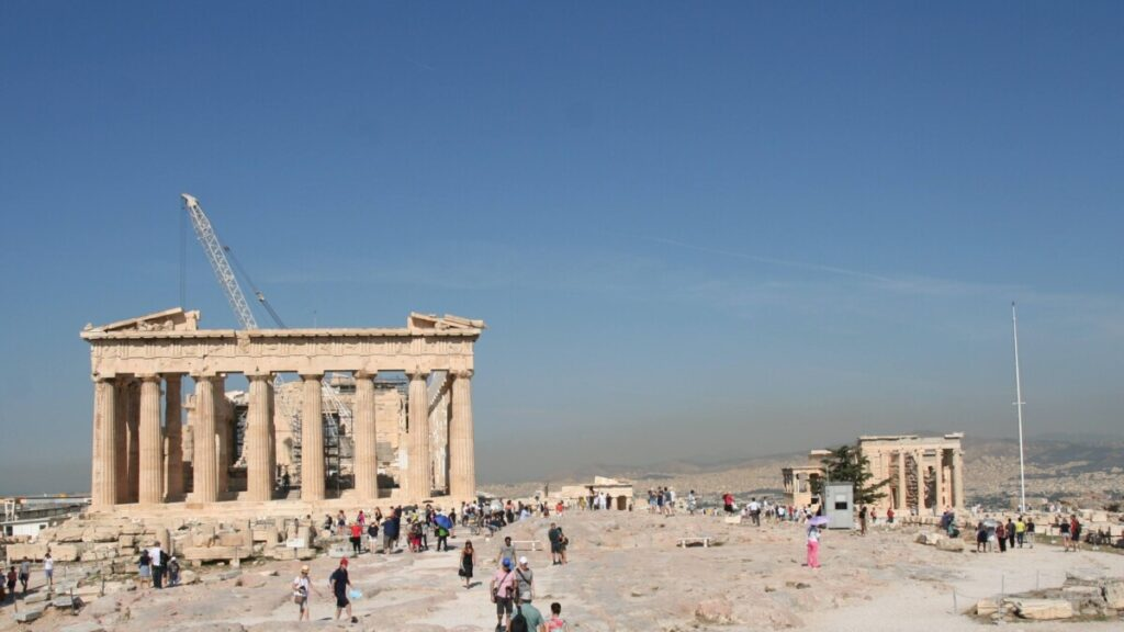 Akropolis er enormt