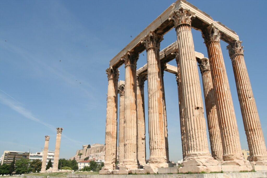 Zevs tempel nedenfor Akropolis