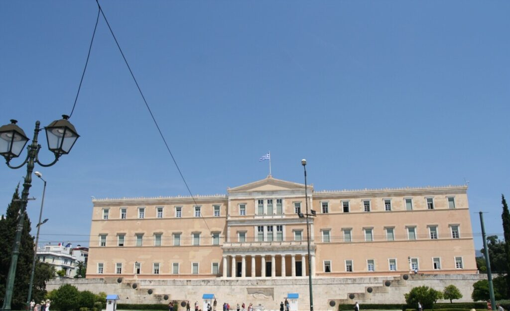 Parlamentet i Athen på Syntagma-plassen