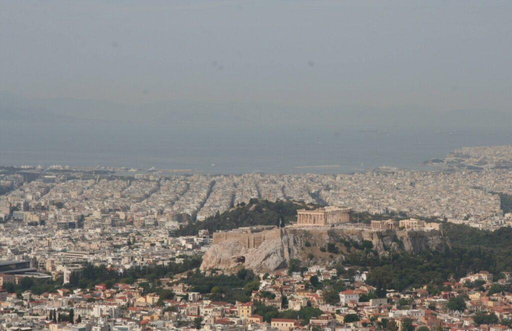 Utsikt mot Akropolis