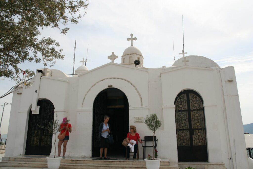 Kirken på toppen av funikulairen